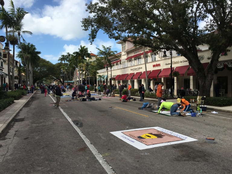 2017 Naples-Pelican Bay Rotary Chalk Art Festival | Livingston Law, P.A.